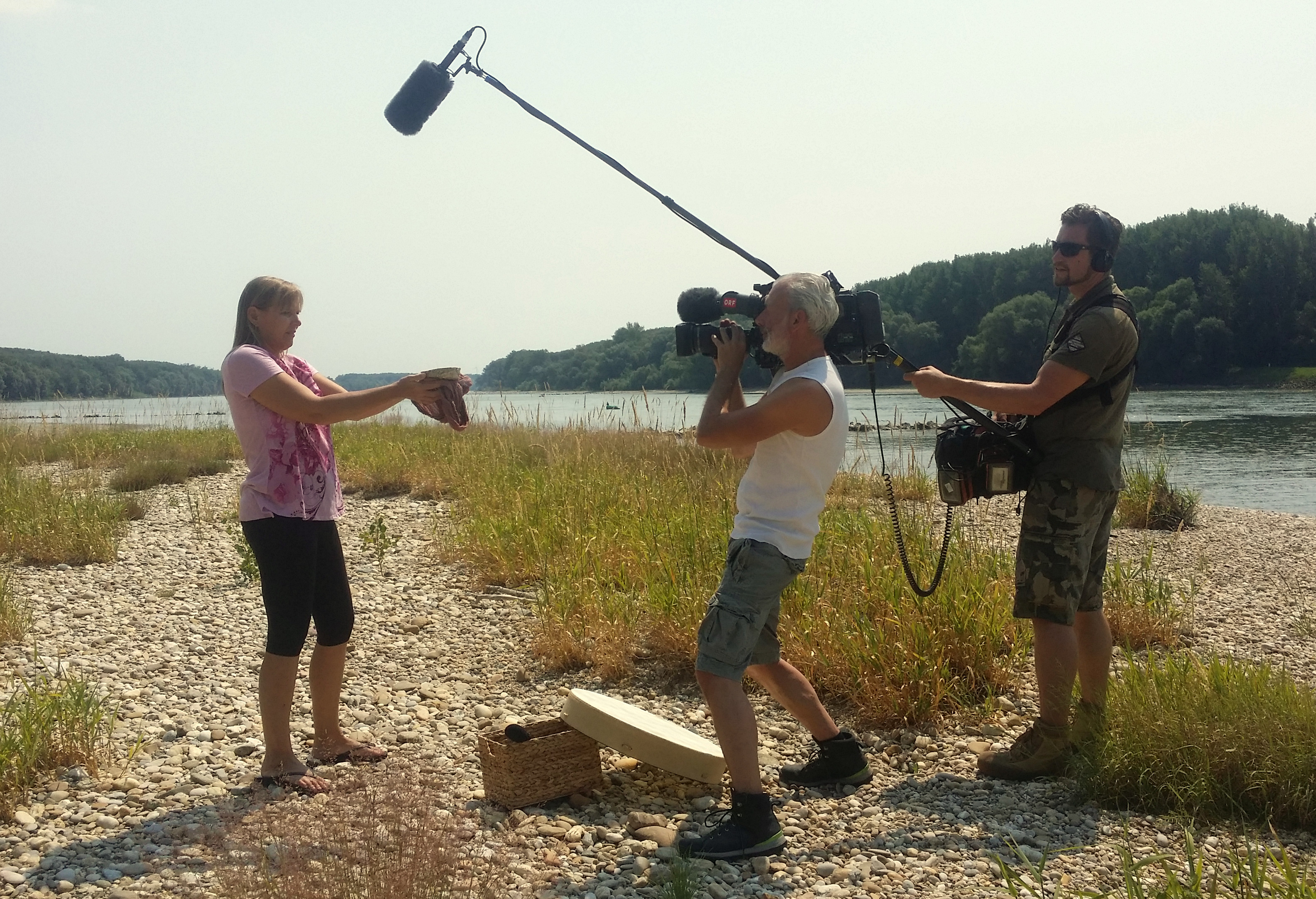 Dreharbeiten des ORF im Mai 2017
