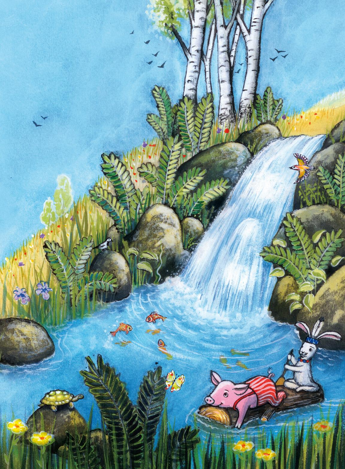 Lulus Wasserfall im Traumland